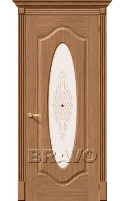 Межкомнатные двери Аура Ф-02 (Дуб)