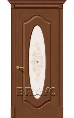 Межкомнатные двери Аура Ф-12 (Орех)