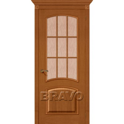 Межкомнатные двери Капри-3 Люкс Д-24 (Золотой Орех)