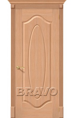 Межкомнатные двери Аура Ф-01 (Дуб)