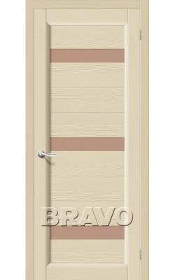 Межкомнатные двери Леон Т-18 (Ваниль)