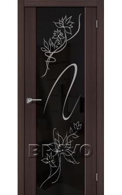 Межкомнатные двери S-13 Stamp Wenge Veralinga