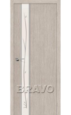 Межкомнатные двери Глейс-1 Twig 3D Cappuccino