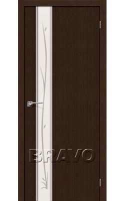 Межкомнатные двери Глейс-1 Twig 3D Wenge