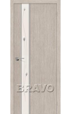 Межкомнатные двери Глейс-1 Sprig 3D Cappuccino