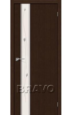 Межкомнатные двери Глейс-1 Sprig 3D Wenge