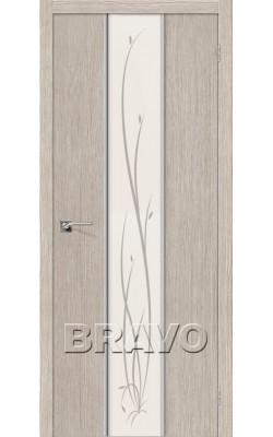 Межкомнатные двери Глейс-2 Twig 3D Cappuccino
