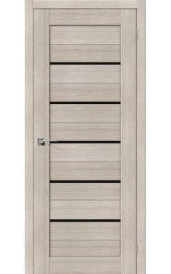 Межкомнатные двери Порта-22 Cappuccino Veralinga/Black Star