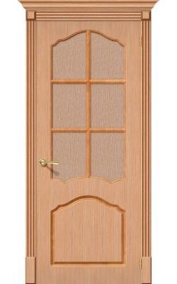 Межкомнатные двери Каролина Ф-01 (Дуб)