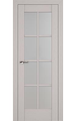 Межкомнатные двери 101X Пекан Белый, Стекло Матовое