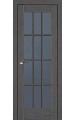 Межкомнатные двери 102X Пекан Темный, Стекло Графит