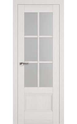 Межкомнатные двери 103X Пекан Белый, Стекло Матовое