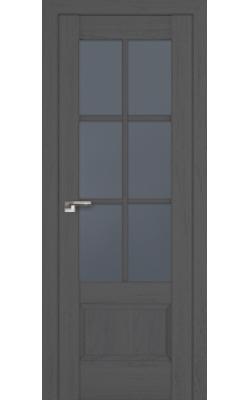 Межкомнатные двери 103X Пекан Темный, Стекло Графит