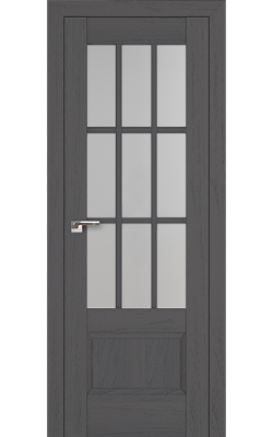 Межкомнатные двери 104X Пекан Темный, Стекло Матовое