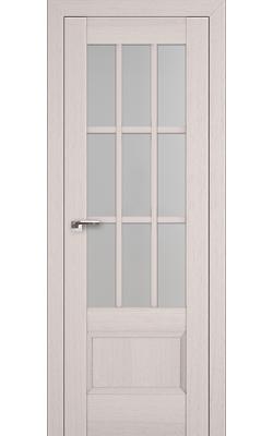 Межкомнатные двери 104X Пекан Белый, Стекло Матовое