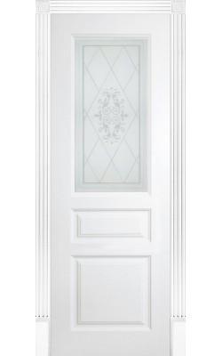 Межкомнатные двери Турин Стекло  Эмаль белая