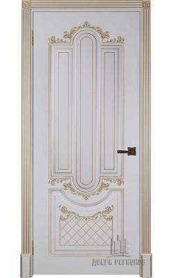 Межкомнатные двери Александрия 2, Слоновая кость с патиной золото