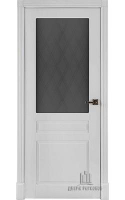 Межкомнатные двери Прага 5,5  Стекло Эмаль белая