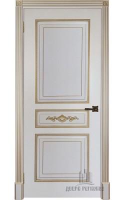 Межкомнатные двери Лацио Слоновая кость с патиной золото