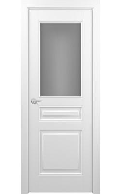 Межкомнатные двери Ампир ( Эмаль белая ) Стекло