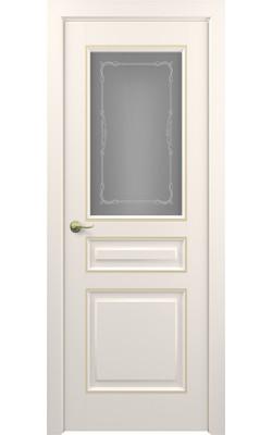 Межкомнатные двери Ампир (Слоновая кость) Стекло