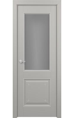 Межкомнатные двери Венеция (Эмаль серая) Стекло