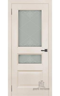 Межкомнатные двери Аликанте-2 Слоновая кость Ral 9001, стекло