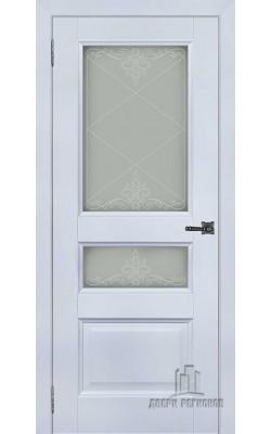 Межкомнатные двери Аликанте 2 Серый шелк Ral7047, стекло