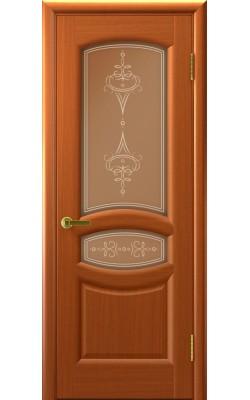 Межкомнатные двери Анастасия Темный анегри Т74, стекло