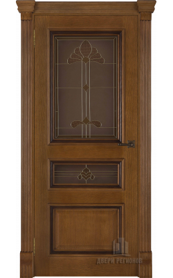 Межкомнатные двери Барселона (Дуб антик) Стекло
