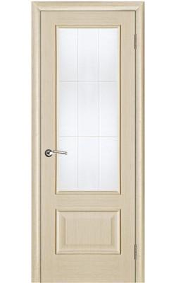 Межкомнатные двери Диана Беленый дуб, Стекло