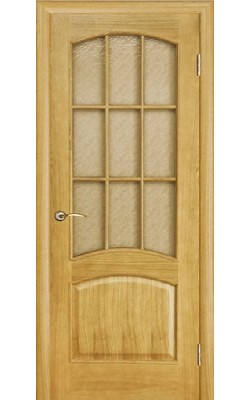 Межкомнатные двери Капри Дуб тон 4, Стекло