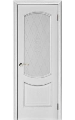 Межкомнатные двери Лира Серебряная патина, Стекло