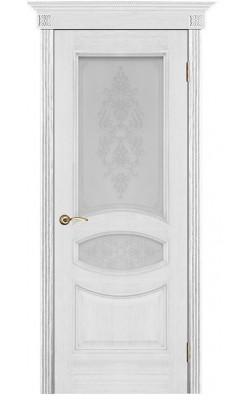 Межкомнатные двери Ницца Серебряная патина, Стекло