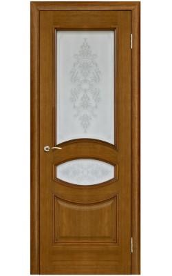 Межкомнатные двери Ницца Античный дуб, Стекло