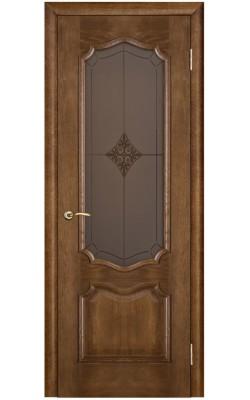 Межкомнатные двери Премьера Каштан тон 11, Стекло Ромб