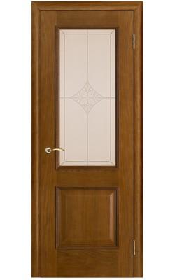 Межкомнатные двери Шервуд Античный дуб, Стекло Ромб
