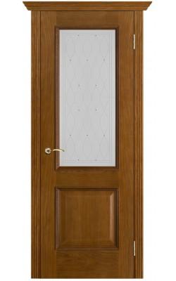 Межкомнатные двери Шервуд Античный дуб, Стекло Роса