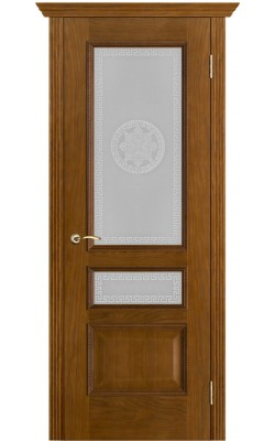 Межкомнатные двери Вена Античный дуб, Стекло Версачи