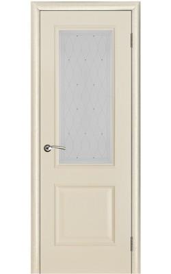 Межкомнатные двери Версаль патина ваниль, Стекло Роса