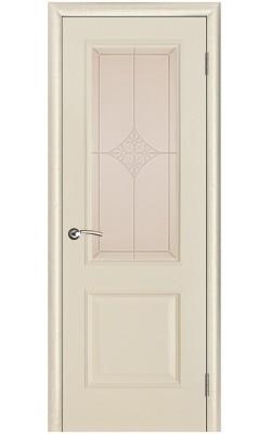 Межкомнатные двери Версаль патина ваниль, Стекло Ромб