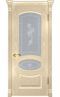 Межкомнатные двери Грация  Слоновая кость, стекло