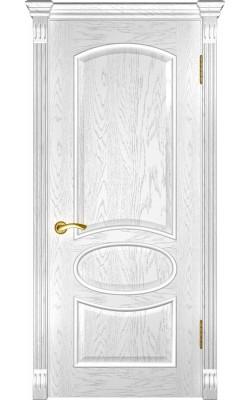 Межкомнатные двери Грация  Дуб эмаль белая