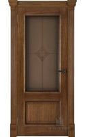 Межкомнатные двери Гранд (Дуб антик) Стекло