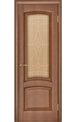 Межкомнатные двери Лаура Темный анегри Т74, стекло