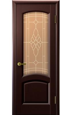 Межкомнатные двери Лаура Венге, стекло
