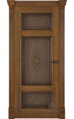 Межкомнатные двери Мадрид (Дуб антик) Стекло