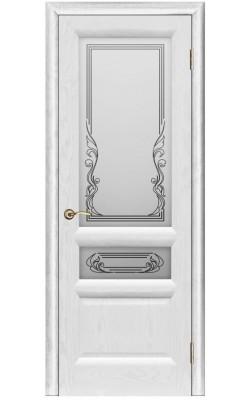 Межкомнатные двери Валенсия-2 Ясень жемчуг, стекло
