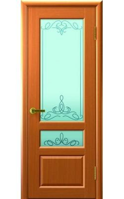Межкомнатные двери Валентия-2 Светлый анегри Т34, стекло