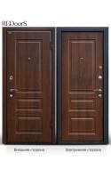 Входные двери М11 тёмный орех